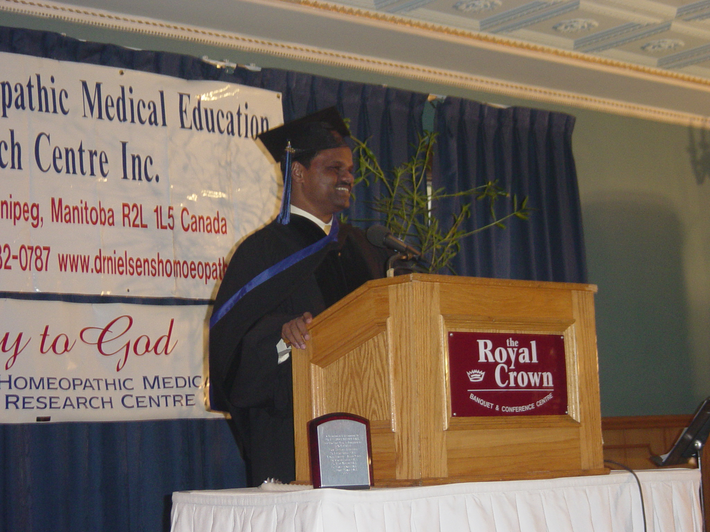 Dr.Neilsen's Homeopathic Medical Education and Research Center graduation Chief guest speech,Winnipeg Canada 2005